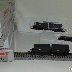 Trenes Escala: ARNOLD N 3 PLATAFORMAS CONTENEDORES 5915 L45-62 (CON COMPRA DE 5 LOTES O MAS ENVÍO GRATIS). Lote 199954206