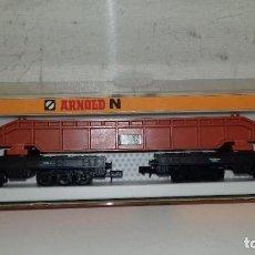 Trenes Escala: ARNOLD N PLATAFORMA CARGA 12 EJES REF 4931 --- L46-030 (CON COMPRA DE 5 LOTES O MAS, ENVÍO GRATIS). Lote 212708130