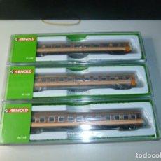 Trenes Escala: PACK TRES COCHES 10000 ESTRELLA RENFE ARNOLD. Lote 213943555