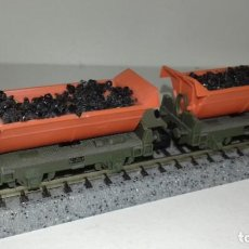 Trenes Escala: ARNOLD N 2 VAGONETAS DE MINAS -- L46-345 (CON COMPRA DE 5 LOTES O MAS, ENVÍO GRATIS). Lote 222052620