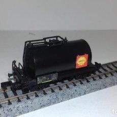 Trenes Escala: ARNOLD N CISTERNA 2 EJES SHELL NEGRA -- L48-189 (CON COMPRA DE 5 LOTES O MAS, ENVÍO GRATIS). Lote 247174745