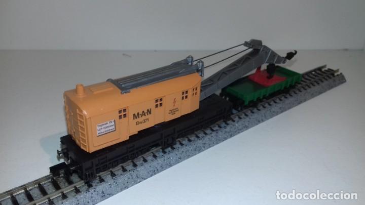 Trenes Escala: ARNOLD N grua y vagón de ayuda -- L48-190 (Con compra de 5 lotes o mas, envío gratis) - Foto 3 - 247174955