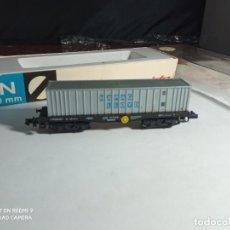 Trenes Escala: VAGÓN PORTACONTENEDOR ESCALA N DE ARNOLD. Lote 262282120