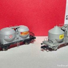 Trenes Escala: ARNOLD HN6097/ HN6098 PAREJA DE VAGONES TOLVA CEMENTO. Lote 265151779