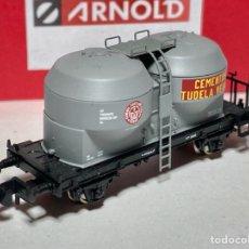 "Trenes Escala: ARNOLD HN6098 VAGÓN TOLVA CEMENTO ""TUDELA VEGUIN"". Lote 269105208"