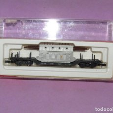 Trenes Escala: VAGÓN PLATAFORMA CON TRANSFORMADOR EN ESCALA *N* REF. 4910 DE ARNOLD. Lote 273443158