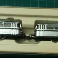 Trenes Escala: AUTOMOTOR DIESEL, GRIS/PLATEADO (2 UNIDADES) - ARNOLD 0344 (CUSTOMIZADOS A FERROBÚS DE RENFE). Lote 276695153