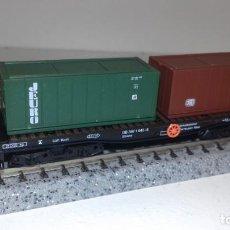 Trenes Escala: ARNOLD N PLATAFORMA CONTAINERS -- L50-078 (CON COMPRA DE 5 LOTES O MAS, ENVÍO GRATIS). Lote 278959278