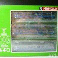 Trenes Escala: AUTOMOTOR 440 RENFE AZUL-AMARILLO DIGITALIZADO ARNOLD. Lote 288399968