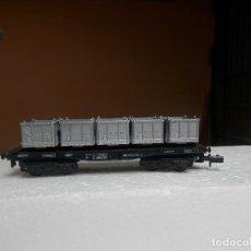 Trenes Escala: VAGÓN PORTACONTENEDOR ESCALA N DE ARNOLD. Lote 293899573