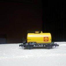 Trenes Escala: VAGÓN CISTERNA SHELL ESCALA N DE ARNOLD. Lote 293979458