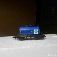 Trenes Escala: VAGÓN CISTERNA ARAL ESCALA N DE ARNOLD. Lote 294093498