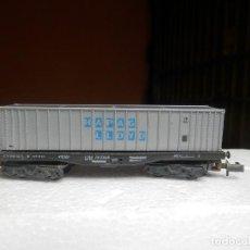 Trenes Escala: VAGÓN PORTACONTENEDOR ESCALA N DE ARNOLD. Lote 295543078