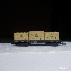Trenes Escala: VAGÓN PORTACONTENEDOR ESCALA N DE ARNOLD. Lote 295543458