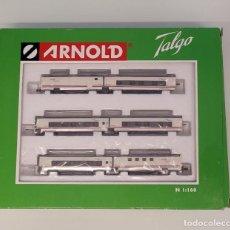 Trenes Escala: ARNOLD HN4019- TREN HOTEL TALGO RENFE OPERADORA 6 COCHES, ESCALA N. NUEVO. Lote 295639673