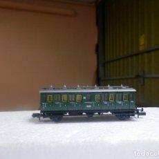 Trenes Escala: VAGÓN PASAJEROS 2 EJES ESCALA N DE ARNOLD. Lote 297074488