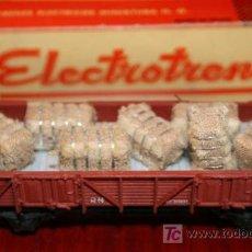 Trenes Escala: ELECTROTREN - VAGÓN ABIERTO CON BALAS - REF. 1106 - CON CAJA ORIGINAL. Lote 26924210