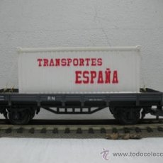 Trenes Escala: RENFE-ELECTROTREN REF:1001 - VAGON DE MERCANCIAS TRANSPORTES ESPAÑA -ESCALA H0-. Lote 30299891