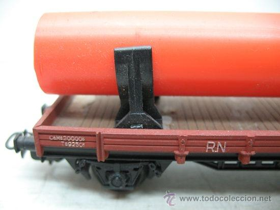 Trenes Escala: Electrotren - Vagón de mercancías abierto RENFE con carga cilindro - Escala H0 - Foto 3 - 35652340