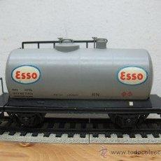 Trenes Escala: ELECTROTREN -VAGON CISTERNA ESSO-ESCALA H0-. Lote 38509556