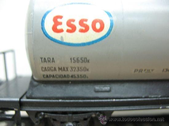 Trenes Escala: ELECTROTREN -VAGON CISTERNA ESSO-ESCALA H0- - Foto 2 - 38509556