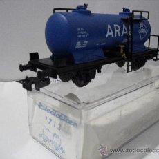 Trenes Escala: ELECTROTREN 1713 ,VAGON CISTERNA ARAL,ESC HO. Lote 38758453
