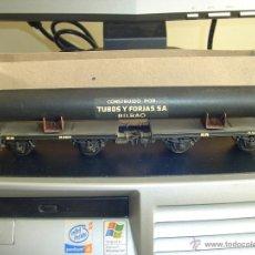 Trenes Escala: ELECTROTREN. VAGÓN DOBLE CON TUBO 1600-3. RARO. Lote 40269541