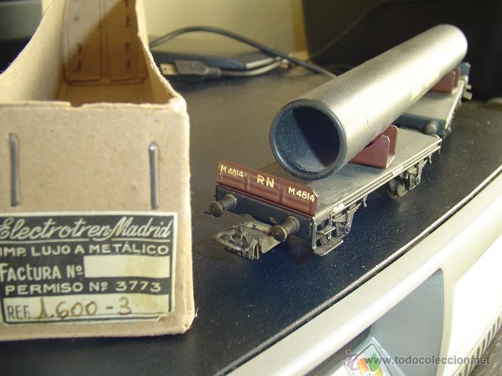 Trenes Escala: Electrotren. Vagón doble con tubo 1600-3. Raro - Foto 2 - 40269541