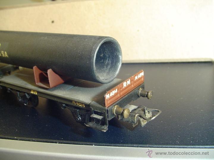 Trenes Escala: Electrotren. Vagón doble con tubo 1600-3. Raro - Foto 3 - 40269541