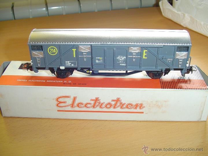 ELECTROTREN H0. ANTIGUO VAGÓN TRANSPORTES ESPECIALES 214 . NUEVO. (Juguetes - Trenes Escala H0 - Electrotren)