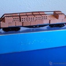Trenes Escala: (TR-803)VAGON PLATAFORMA LADRILLOS ELECTROTREN REF.5120. Lote 41450047