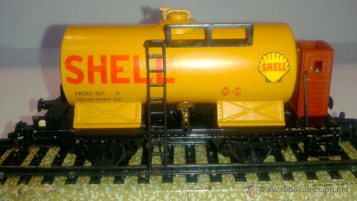 Trenes Escala: ELECTROTREN - VAGON CISTERNA - SHELL - DB - - Foto 2 - 42029225