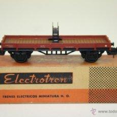 Trenes Escala: ELECTROTREN H0 - RN 351601 - VAGÓN BORDES BAJOS - AÑOS 60/70. Lote 43259921