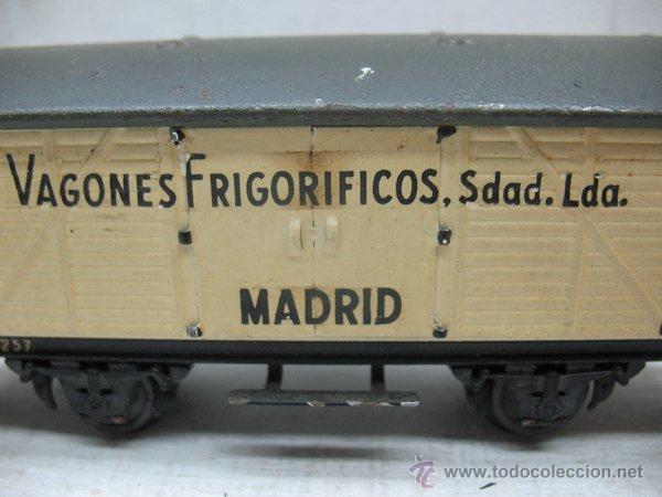 Trenes Escala: Electrotren - Antiguo vagón de chapa de mercancías vagones frigoríficos Madrid 1ª época - Escala H0 - Foto 2 - 43860774