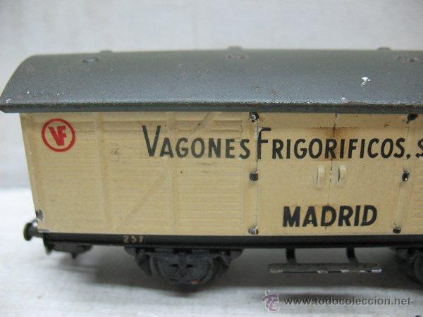 Trenes Escala: Electrotren - Antiguo vagón de chapa de mercancías vagones frigoríficos Madrid 1ª época - Escala H0 - Foto 3 - 43860774