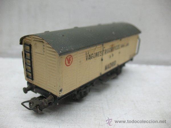Trenes Escala: Electrotren - Antiguo vagón de chapa de mercancías vagones frigoríficos Madrid 1ª época - Escala H0 - Foto 5 - 43860774