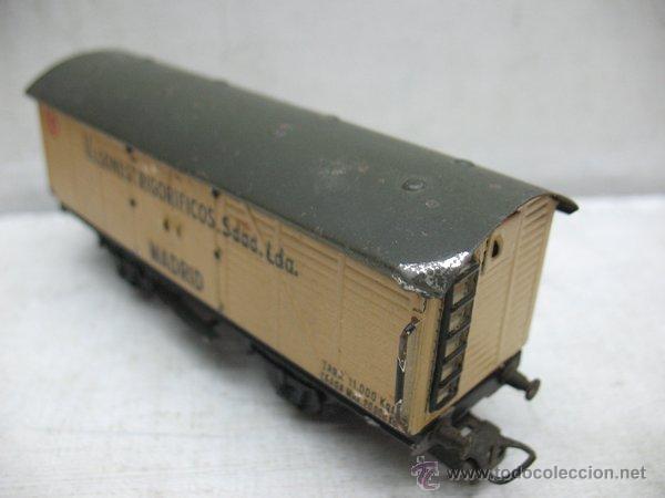 Trenes Escala: Electrotren - Antiguo vagón de chapa de mercancías vagones frigoríficos Madrid 1ª época - Escala H0 - Foto 6 - 43860774