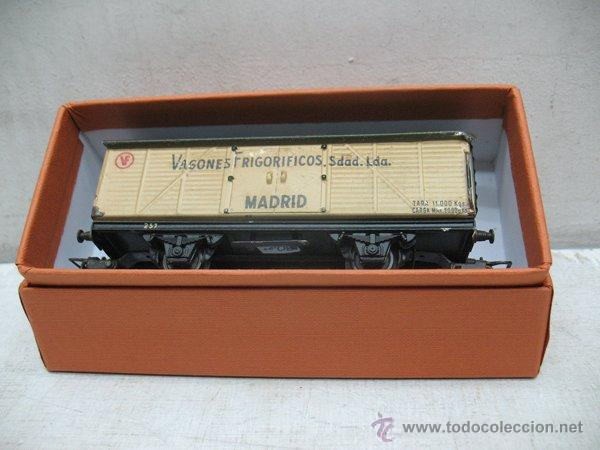 Trenes Escala: Electrotren - Antiguo vagón de chapa de mercancías vagones frigoríficos Madrid 1ª época - Escala H0 - Foto 9 - 43860774