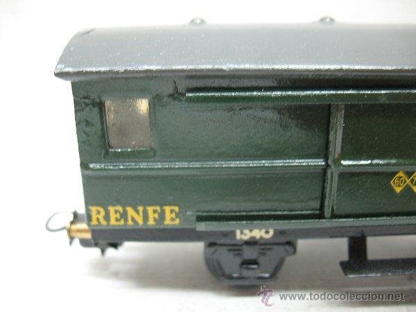 Trenes Escala: Electrotren Renfe - Antiguo vagón de chapa de mercancías C 36 1340 1ª época - Escala H0 - Foto 2 - 43860884