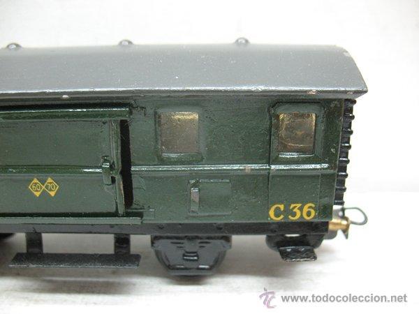 Trenes Escala: Electrotren Renfe - Antiguo vagón de chapa de mercancías C 36 1340 1ª época - Escala H0 - Foto 3 - 43860884