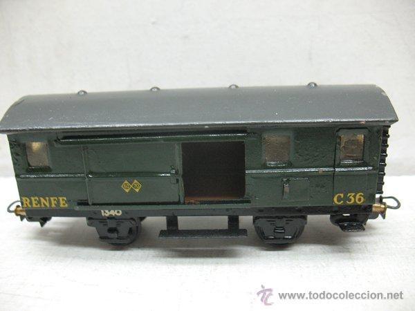 Trenes Escala: Electrotren Renfe - Antiguo vagón de chapa de mercancías C 36 1340 1ª época - Escala H0 - Foto 4 - 43860884