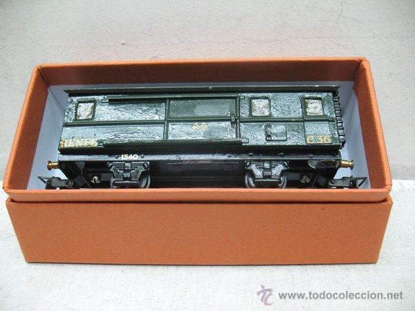 Trenes Escala: Electrotren Renfe - Antiguo vagón de chapa de mercancías C 36 1340 1ª época - Escala H0 - Foto 9 - 43860884