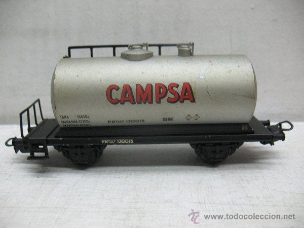 ELECTROTREN RENFE - ANTIGUO VAGÓN DE CHAPA CISTERNA CAMPSA 1ª ÉPOCA - ESCALA H0 (Juguetes - Trenes Escala H0 - Electrotren)