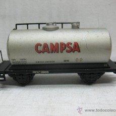 Trenes Escala: ELECTROTREN RENFE - ANTIGUO VAGÓN DE CHAPA CISTERNA CAMPSA 1ª ÉPOCA - ESCALA H0. Lote 43861979