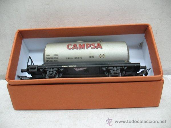 Trenes Escala: Electrotren Renfe - Antiguo vagón de chapa cisterna Campsa 1ª época - Escala H0 - Foto 6 - 43861979