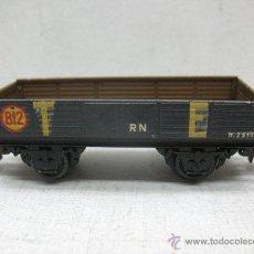 Trenes Escala: ELECTROTREN RENFE - ANTIGUO VAGÓN DE CHAPA DE MERCANCÍAS ABIERTO TE 812 1ª ÉPOCA - ESCALA H0. Lote 43874346