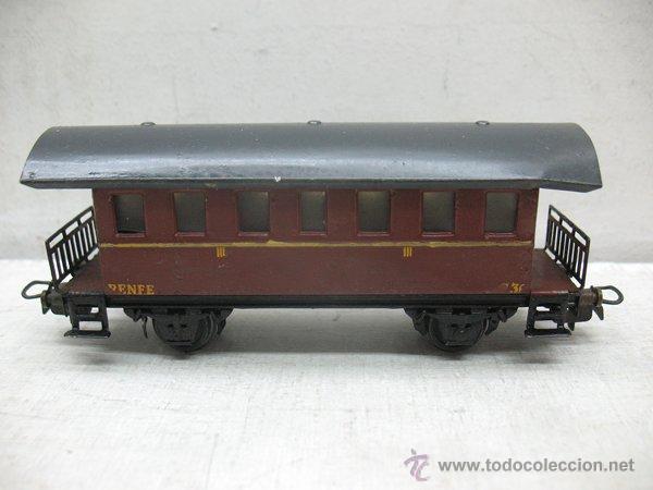 ELECTROTREN RENFE - ANTIGUO COCHE DE CHAPA DE PASAJEROS III 1ª ÉPOCA - ESCALA H0 (Juguetes - Trenes Escala H0 - Electrotren)