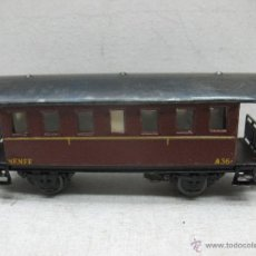 Trenes Escala: ELECTROTREN RENFE - ANTIGUO COCHE DE CHAPA DE PASAJEROS III A 36 1ª ÉPOCA - ESCALA H0. Lote 43875100