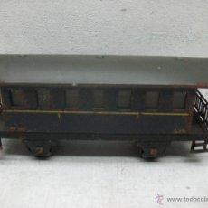 Trenes Escala: ELECTROTREN RENFE - ANTIGUO COCHE DE CHAPA DE PASAJEROS III 1ª ÉPOCA - ESCALA H0. Lote 43875234