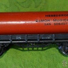 Trenes Escala: VAGON ELECTROTREN TUBO HEREDEROS RAMÓN MÚGICA - MUY DIFÍCIL. Lote 44137225